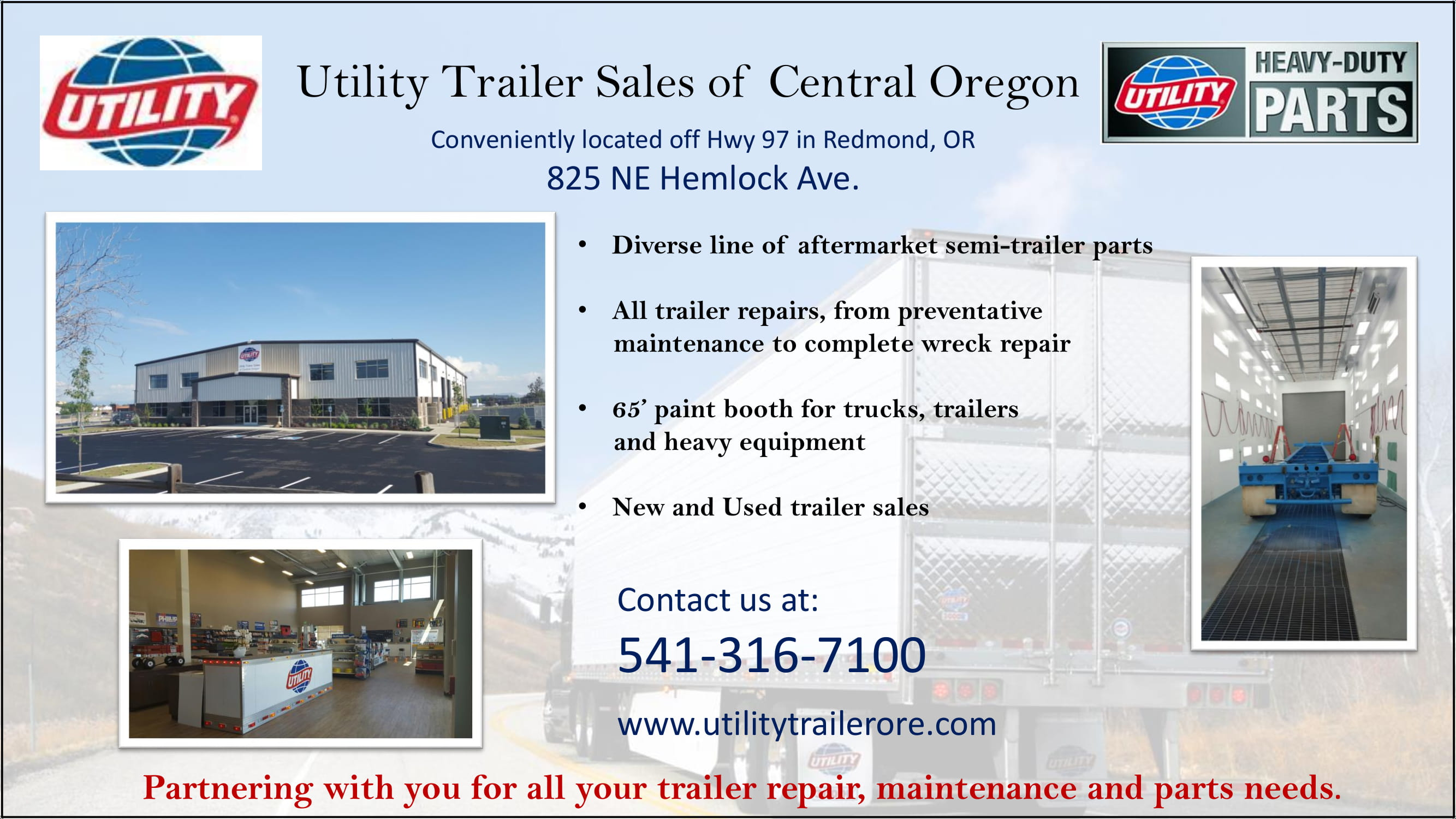 Our Redmond Location Will Meet All Your Semi-Trailer Needs
